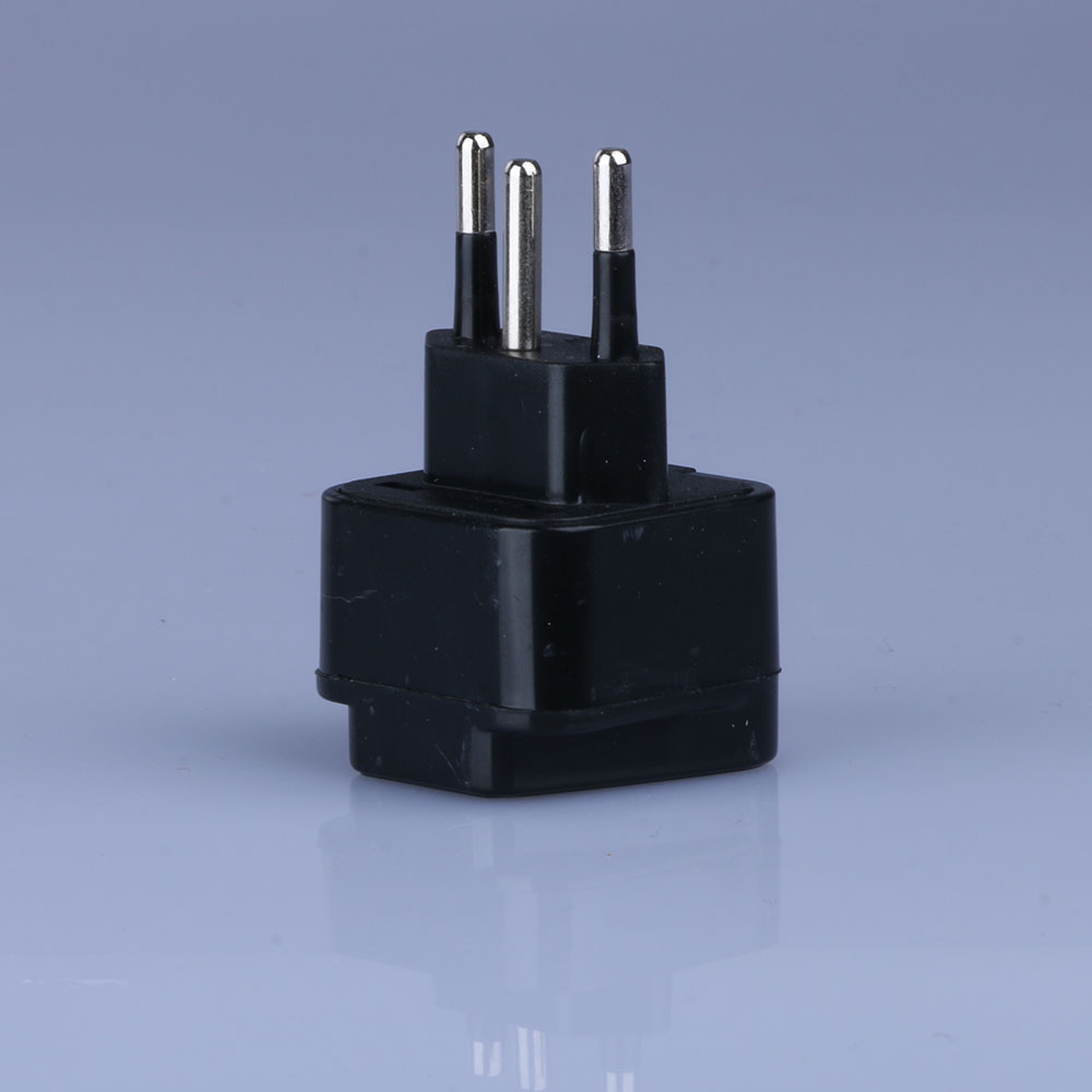 ABS Manganese Steel 300W Universal <font><b>UK</b></font>/US/EU/Russia To Brazil Socket Travel Power Adapter <font><b>Plug</b></font> <font><b>3pin</b></font> Converter Type N <font><b>Plug</b></font> image