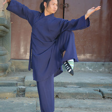 Robes Shaolin Suit Clothing Linen Kungfu-Uniform Tai-Chi-Robe Buddhist-Monk Taoist Martial-Arts