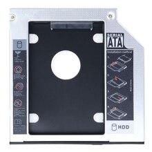 SATA 2nd HDD HD корпус жесткий диск Caddy чехол лоток, универсальный для 12,7 мм ноутбука CD/DVD-ROM Оптический отсек для SSD и HDD