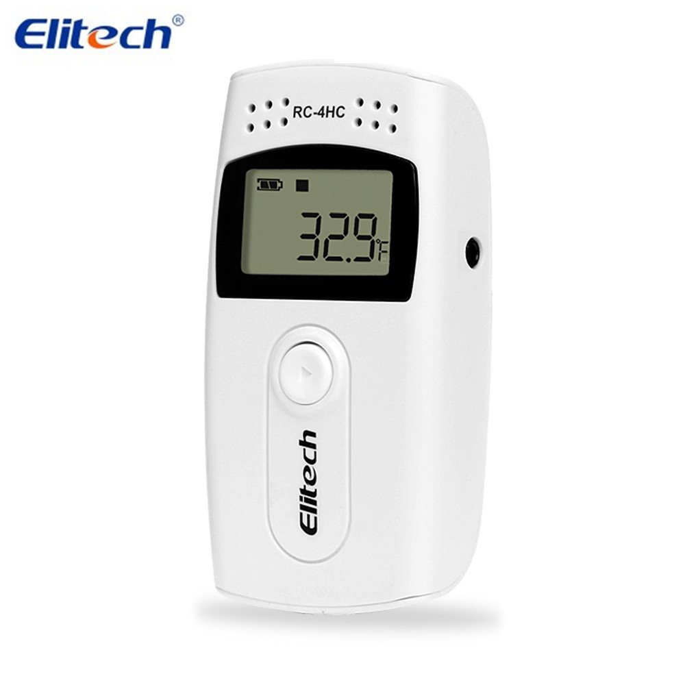 LCD Digital Temperature Humidity Data Logger USB Temperature Recorder with External Sensor 30~60C / 40~85C