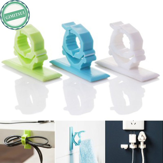 4x Useful Wire Cord Storage Rack Plug Cable Organizer Holder Hook ...