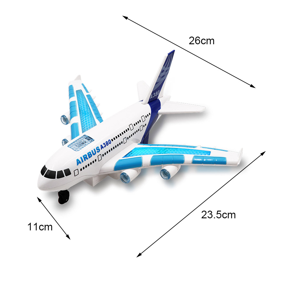 Image 4 - Kids Airplane Toys Airbus Electric Remote Control Model Plane with Lights Sounds  Model Kids for Children Gifts-in RC Airplanes from Toys & Hobbies