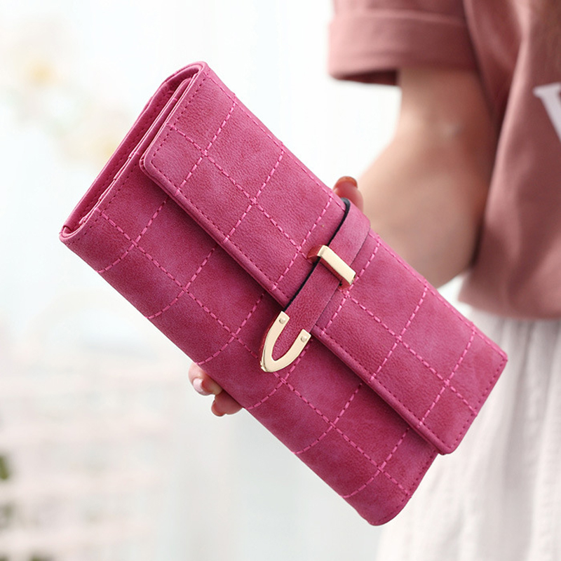 2018 New Women Wallets Female Leather Purses Large Capacity Coin Card Holders Fashion Ladies Wallet Clutch Long Design Carteras 6
