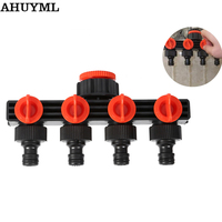 Switch Valve Connector Fitting Home Garden Hose Pipe Splitter Plastic Drip Irrigation Water Agricultural 4 Way