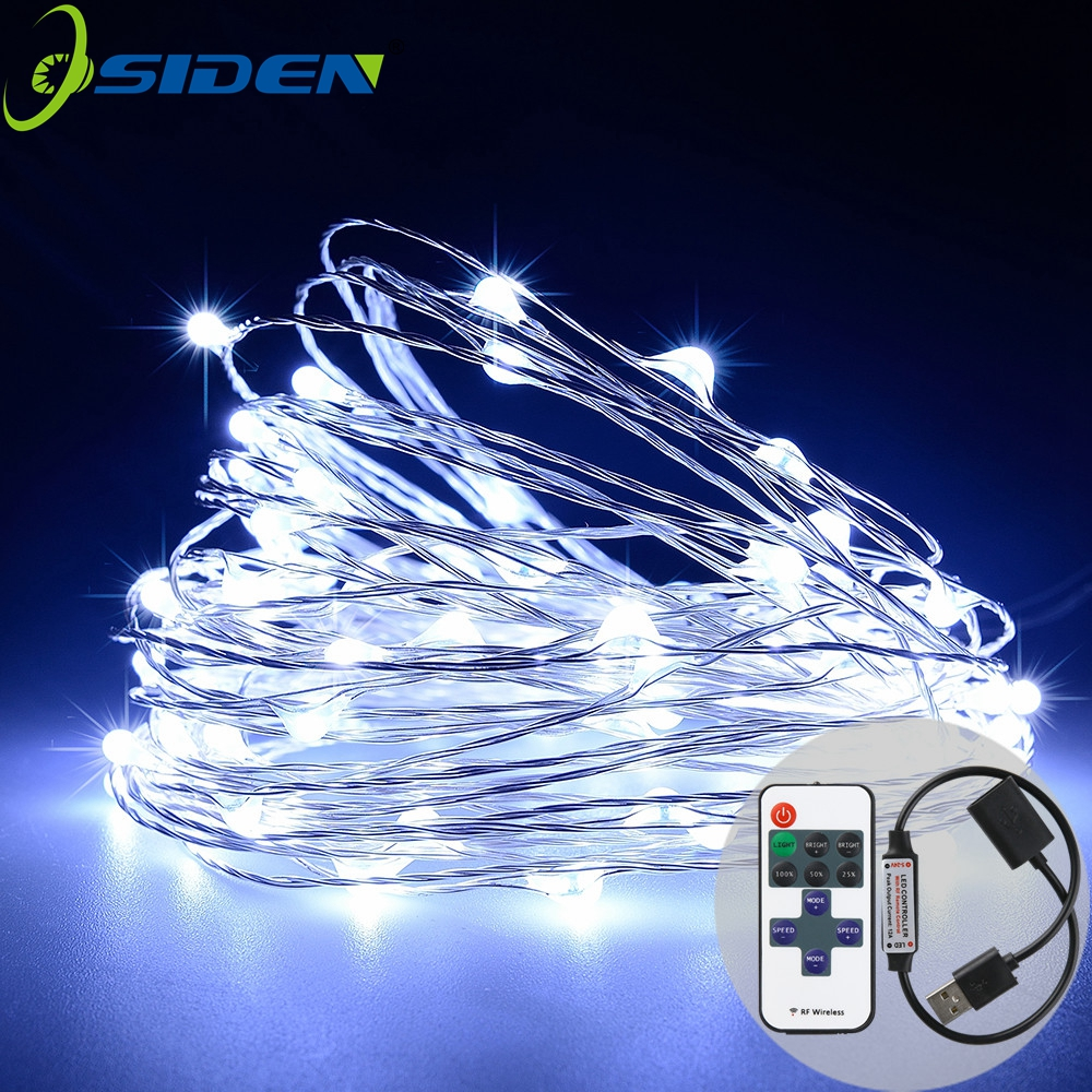 OSIDEN 10m String Lights Copper Wire String Light String, Hiasan yang - Pencahayaan perayaan - Foto 1