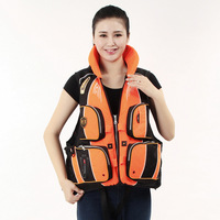 2017 Real Life Vest Jacket S-xxxl 3 Color Professional For Adult Safety Fishing Water Outdoor Survival In Swimwear Aid Lifevest