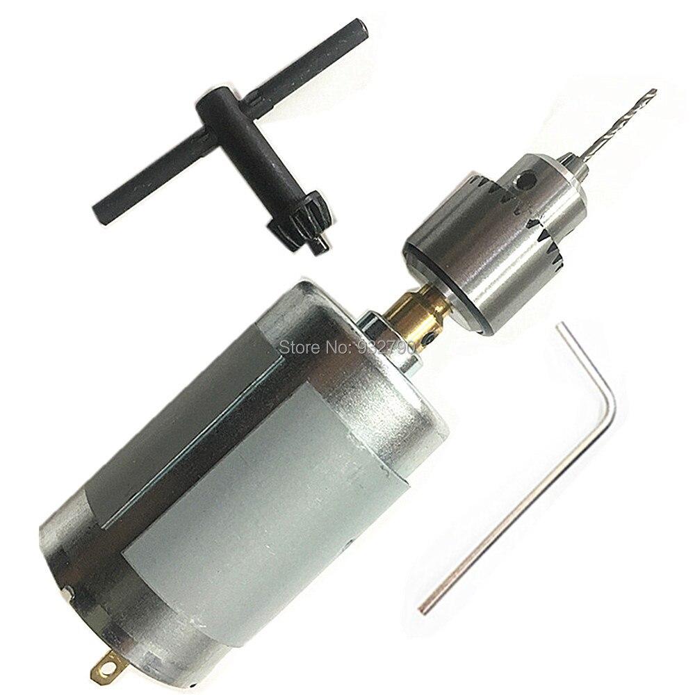 555 12v Dc Motor Portable Drill Robotic Hobby Motor Key Type Drill Chuck 0.3-4mm Jt0 Taper Micro Drill Chuck 3.17mm Brass Shaft