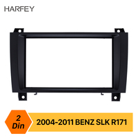 Harfey double Din Car Stereo Fascia DVD Radio Panel Frame Kit for 2004 2005 2006 2007 2008 2009 2010 2011 MERCEDES BENZ SLK R171