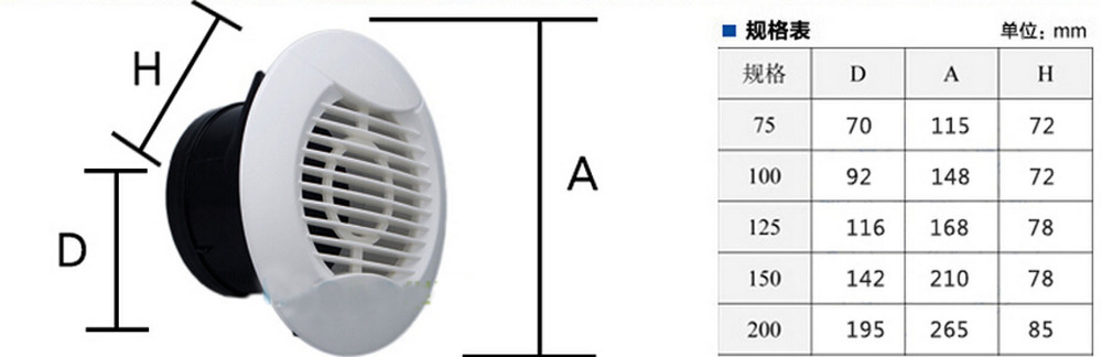 Free Shipping Wall Vent Ducted Heater Aircon Ceiling Outlet Vent Air
