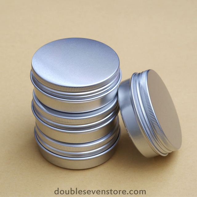 60ML Aluminum Storage Box 68*25*0.3mm Tea Candle Spice Cable Parts Diy