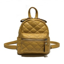Women Diamond Lattice Backpack For Teenager Girl Small Solid Anti-Theft Multifunction Travel Backpacks High quality