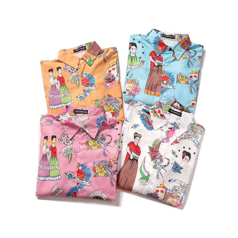 OSCN7 Casual Printed Long Sleeve Shirt Men Streetwear 2019 Fall Hawaii Beach Long Sleeve Shirts Harujuku Mens Shirt 2207