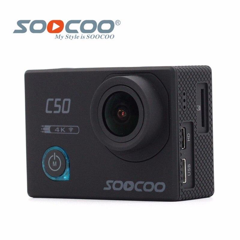 Original SOOCOO C50 Wifi 4K Gyro Sports Action Camera Adjustable Viewing Angles NTK96660 30M Waterproof Sport Camera soocoo c30 sports action camera wifi 4k gyro 2 0 lcd ntk96660 30m waterproof adjustable viewing angles