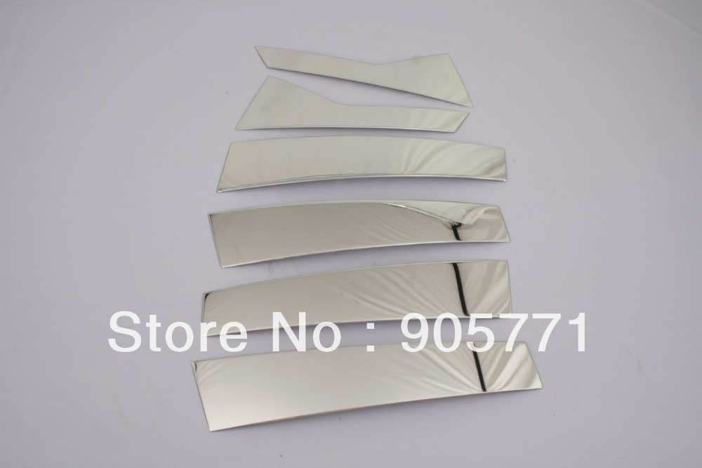 High Quality Chrome B-pillar Trim Cover Stainless Steel For Cadillac Srx Free Shipping Quality And Quantity Assured
