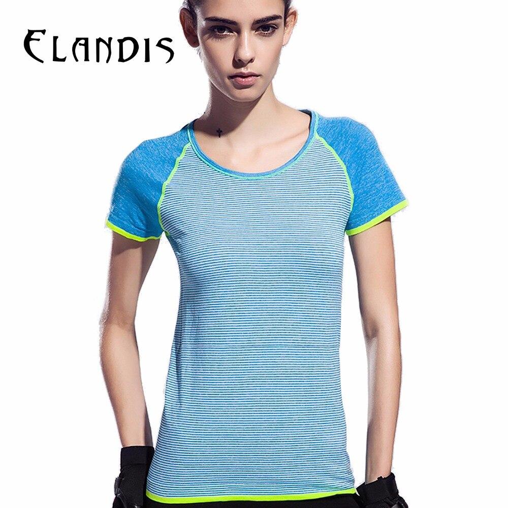 FLANDIS Yoga Top Short Sleeves Sport T Shirt Women Fitness
