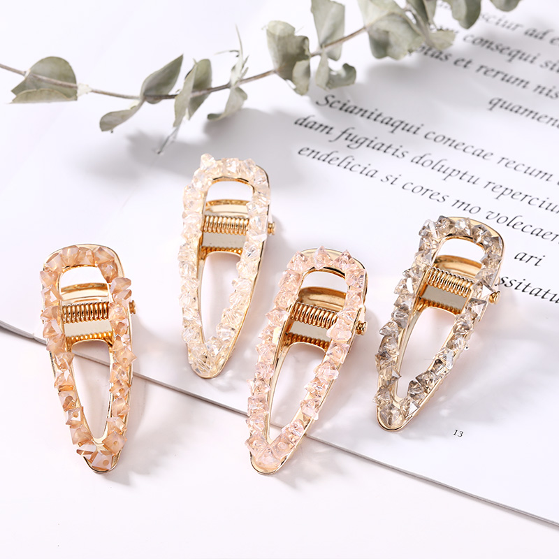 2019 New Women Luxury Shine Crystal Water Drop Hairpins Elegant Hair Clips Headband   Headwear   Barrettes Fashion Hair Accessories