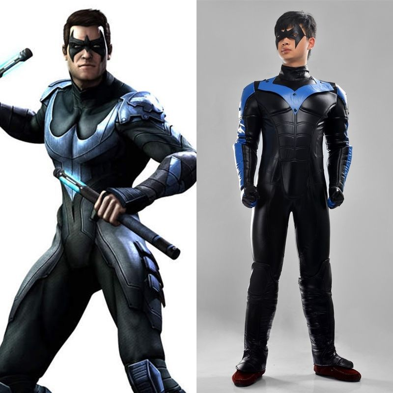 Batman Young Justice Nightwing Cosplay Costume Men Full ...