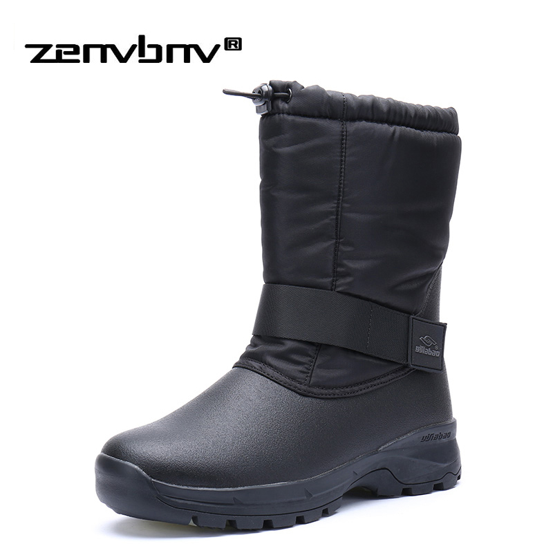 Luxury Brand Fur Super Warm Men Winter Boots for Men Warm Waterproof Rain Boots Shoes Men's Ankle Snow Boots Plus size 40~45 cimim brand new fashion genuine leather boots men ankle boots casual warm winter snow warm fur boots men shoes plus size 39 50