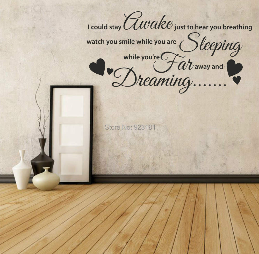 Song Lyric Wall Art wall sticker picture - more detailed picture about aerosmith