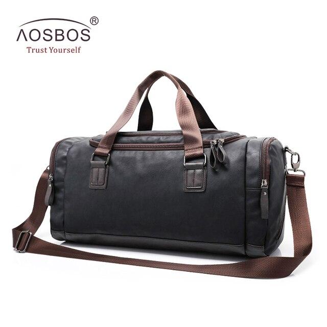 3516418ed4 Aosbos nouveau sac de sport en cuir PU sac de sport d'entraînement pour  femmes