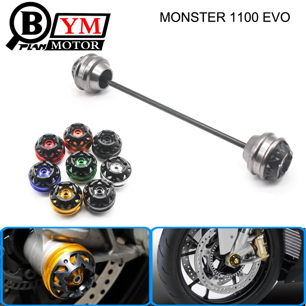 Free delivery for Ducati MONSTER 1100 EVO 2011-2013 CNC Modified Motorcycle Front wheel drop ball / shock absorber