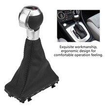 Ручка рычага переключения передач Gaiter Boot Cover черная кожа для Audi A3 S3 RS3 10-12