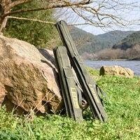 Hot 100cm/150cm Foldable Fishing Rod Bags Fishing Bags 420D Zipped Case Fish Pole Tools Storage bolsa Case Holder Pesca Gear
