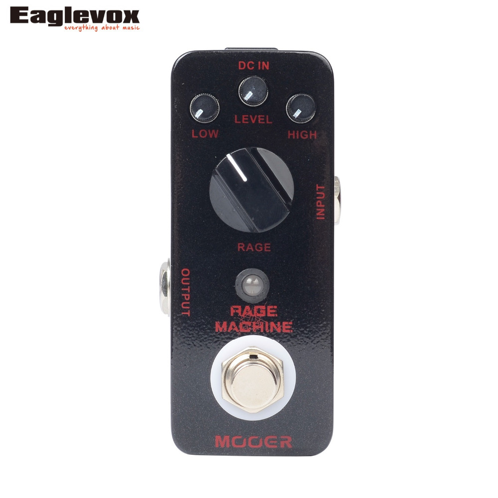 Mooer Rage Machine Metal Distortion Electric Guitar Effect Pedal True Bypass MMD2 mooer ensemble queen bass chorus effect pedal mini guitar effects true bypass with free connector and footswitch topper