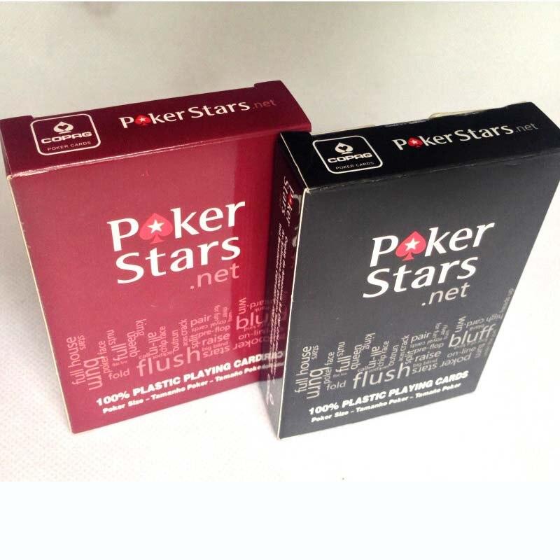 Estrelas do Poker Vermelho/Preto Opção de Texas Holdem Poker Cartões À Prova D Água E Polonês Maçante Puxão