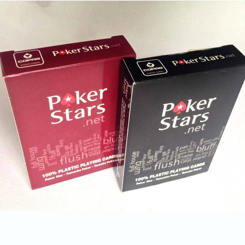 Poker Stars Red/Black Option Texas Holdem Poker Cards Waterproof And Dull Polish Poke