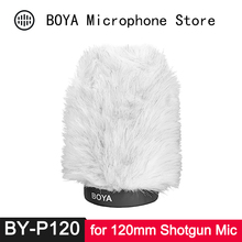лучшая цена BY-P120 Microphone Windshield for Sony ECM 673 674 NV1 Panasonic Zoom SGH-6 BP4073 AT875R AT 877 MC-230 SGM-PD2 MKH-8060 MKE-600