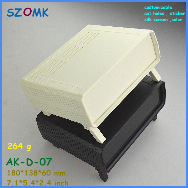 цена на szomk abs project case eletrical instrument enclosure (1pcs) 180*138*60mm outdoor equipment enclosure plastic desk top enclosure