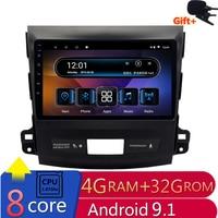9 4G RAM 8 cores Android Car DVD GPS Navigation For Mitsubishi Outlander 2006 2007 2011 2012 audio stereo car radio headunit