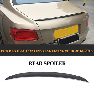 Trunk Boot lip wing Spoiler for Bentley Flying Spur Sedan 4 Door Only 13-16 V8 Car Style D Style Carbon fiber Rear Boot Cover