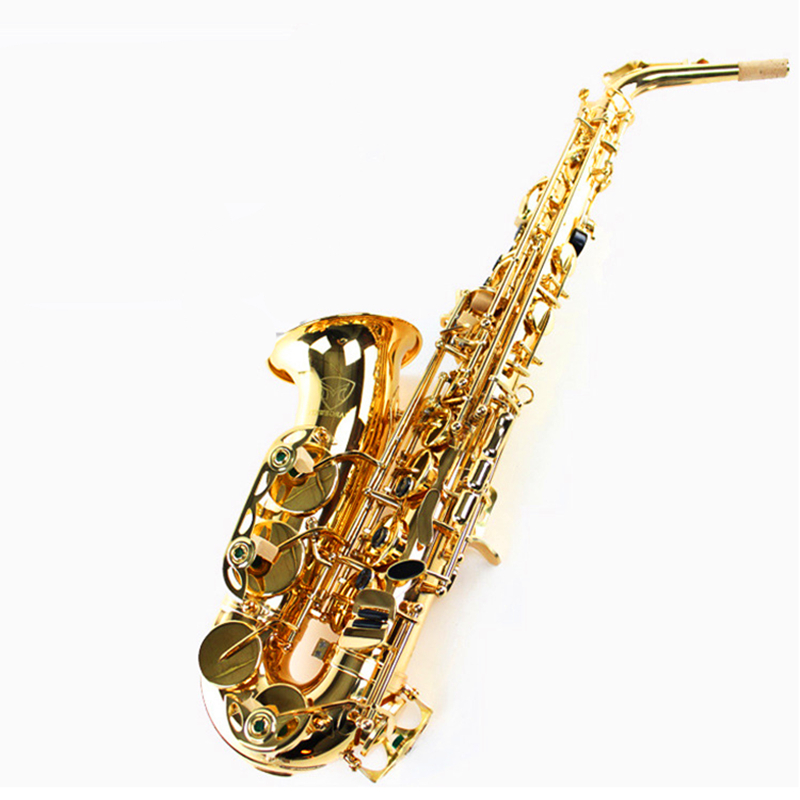 Alto Eb Falling Tune E Sax Wind Instrument Saxophone copper Gold Lacquer saxofone Saxe alto Professional Musical Instrument hot mobile game movie angried king pig castle building block crazy birds minifigures bricks compatible legoes 75826 toys for kid
