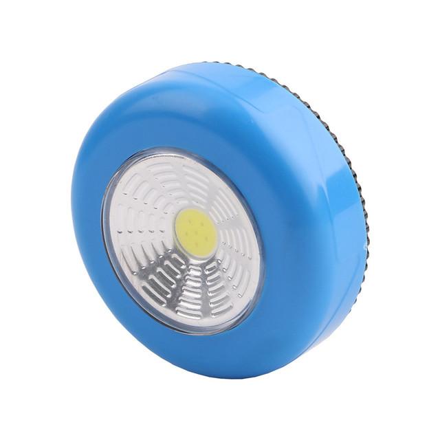 NEW COB Night Light Home Kitchen Under Cabinet Closet Push Stick On Lamp Home Decorative Useful Practical Led Lights SA70