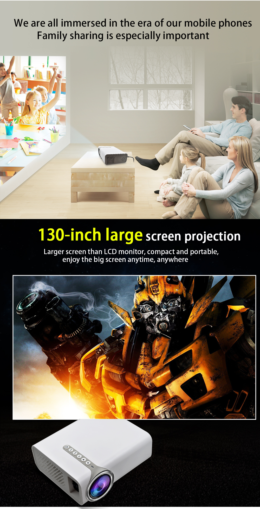 YG520 led projector (2)