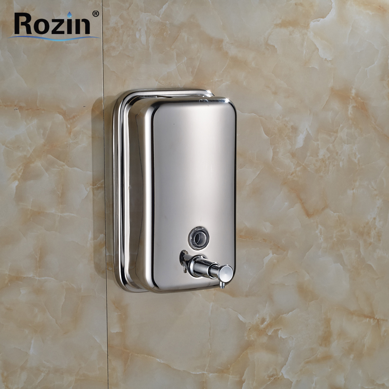 Free Shipping Chrome Stainless Steel Wall Mounted Shower Soap Dispenser Bathroom Soap Box cheaper stainless steel liquid soap dispenser kitchen sink soap box free shipping chrome finished