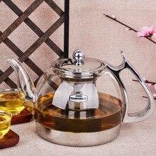 مقاومة للحرارة أبريق شاي زجاجي الكهرومغناطيسية فرن متعدد الوظائف إبريق الشاي التعريفي طباخ غلاية