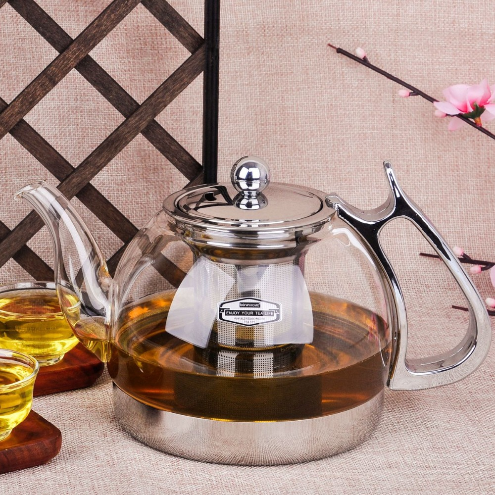 Heat Resistant Glass Teapot Electromagnetic Furnace Multifunctional Teaports Induction Cooker Kettle