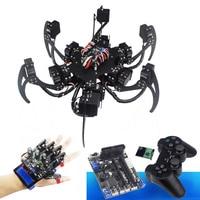 18 DOF Aluminium Hexapod Spider Six Legs Robot Frame Kit with digital servos and