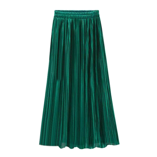 d5bcd74e7 The Pure Color Pleuche Velvet Skirt Pleated Skirt One Size Solid Accordion Pleated  Skirt High Quality Newest