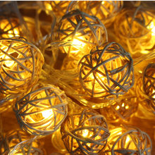 5m 20 Rattan Ball Led String