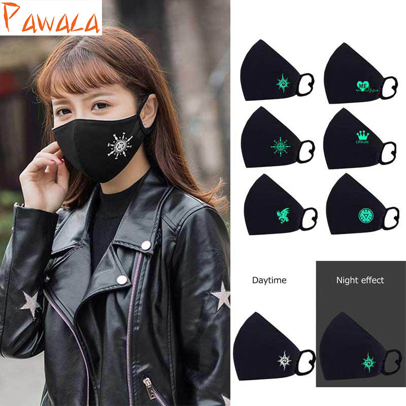 Cycling Mask Dust Smog Windproof MTB Road Bike Bicycle Illuminate Half Face Mask Riding Running Sports Mask outdoor cycling half face mask dust windproof anti pollen allergy activated carbon masks filter sports riding running lcc