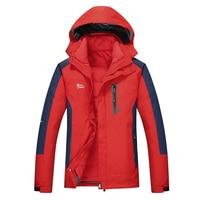 Winter Ski Jacket Men waterproof snowboard jacket snow down jacket Windproof two pieces Mens Ski Jacket Thermal Plus size Brand