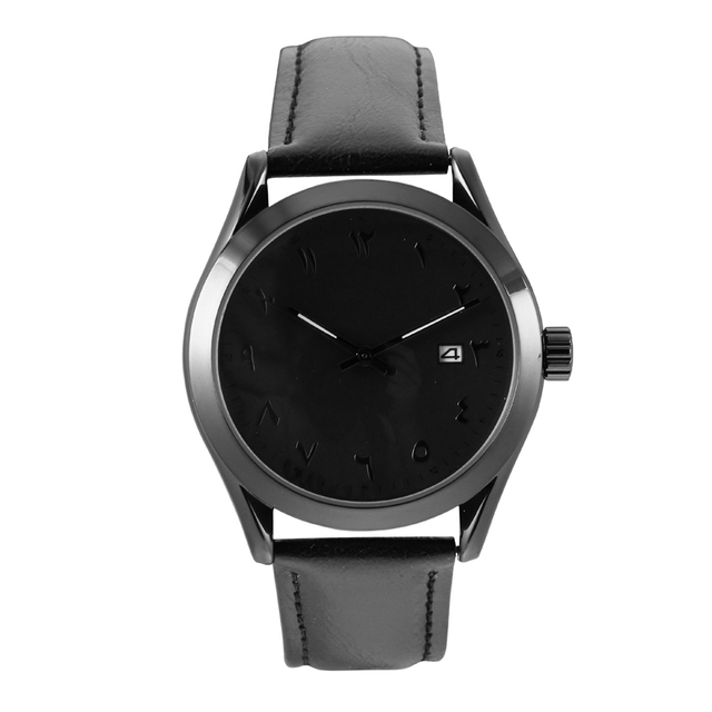 Mens Watches Top Brand Luxury Mens Watches Leather Band Arabic Numerals Montres