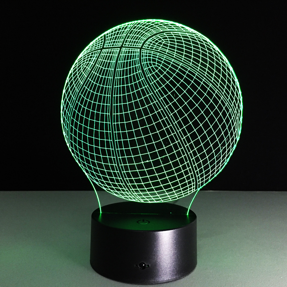 3D LED Night Lights Basketball with 7 Colors Light Lamp Amazing gift for boy birthday or children bedroom Decoration