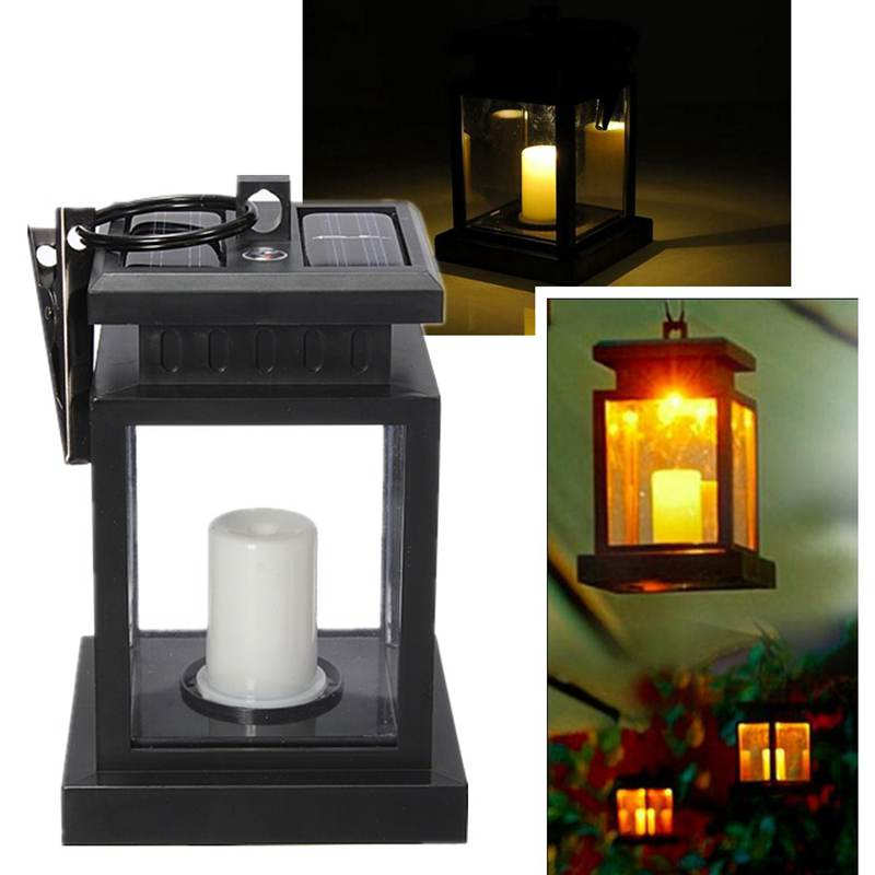 Aliexpress.com : Buy Solar Power Light Twinkle LED Candle Outdoor Lighting  Garden Yellow Light Yard Umbrella Tree Lantern Hanging Lamp From Reliable  Light ...