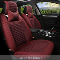 Linen Flax Leather Seat Cover For Dodge Viper JCUV Caliber Avenger Charger Durango Nitro Ram Truck