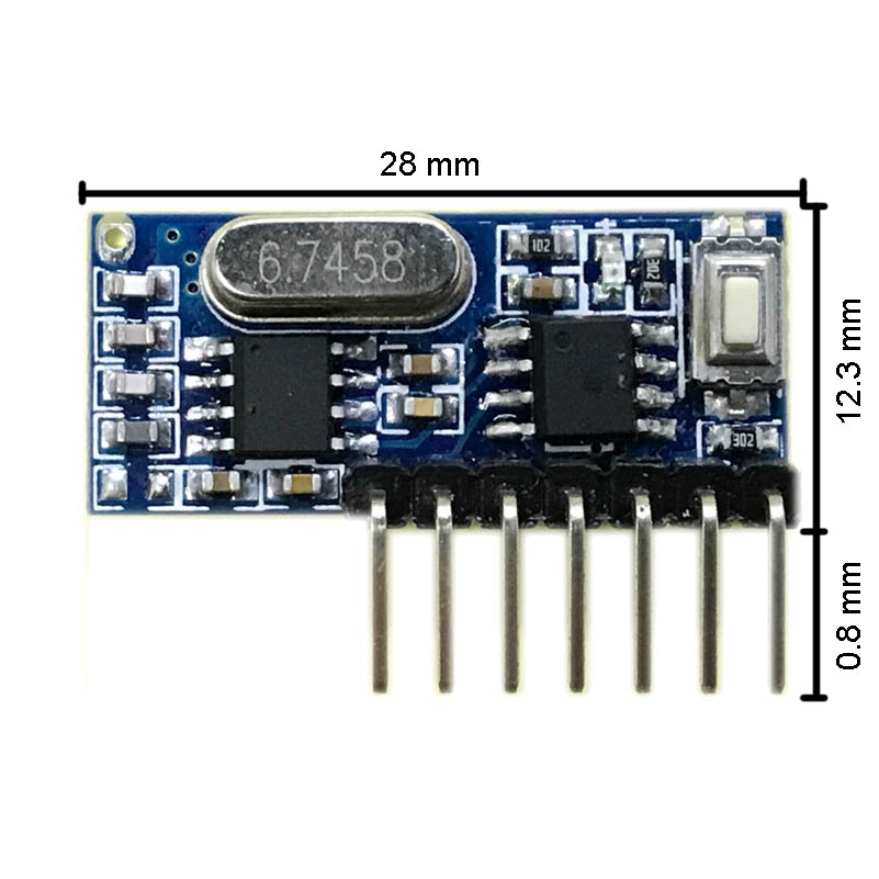 Image 4 - rf 433mhz transmitter 4 button remote control and receiver circuit module kit fixed ev1527 decoding 4CH output with learning diy-in Remote Controls from Consumer Electronics